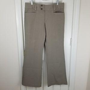 Banana Republic Sloan Flare Pants Sz 12 Gray Tan